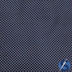 Tecido Tricoline Azul Marinho Mini Poá Branco Caldeira