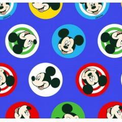 Tecido Tricoline Azul Mickey