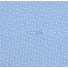 Tecido Tricoline Azul Mini Poá Branco Caldeira