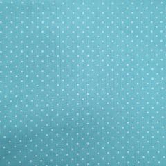 Tecido Tricoline Azul Poá Pequeno Branco