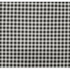 Tecido Tricoline Preto Com Branco Xadrez