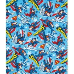 Tecido Tricoline Azul Superman