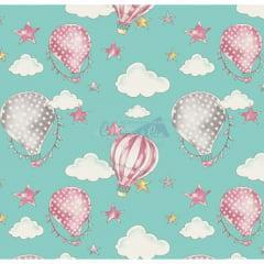 Tecido Tricoline Ballon Tiffany