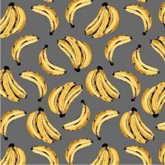 Tecido Tricoline Banana Cinza