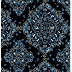 Tecido Tricoline Bandana Azul Marinho com Azul