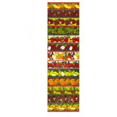 Tecido Tricoline Barrado Frutaria