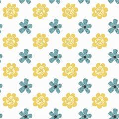 Tecido Tricoline Bee Flower