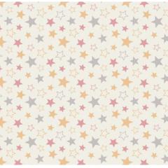 Tecido Tricoline Bege Estrelas