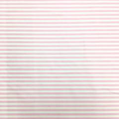 Tecido Tricoline Branco Listra Pequena Rosa Bebê Cor 1497-30
