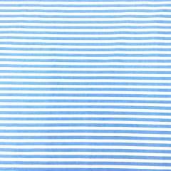 Tecido Tricoline Branco Listras Azul