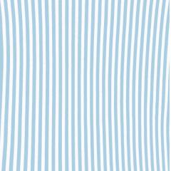 Tecido Tricoline Branco Listras Azul  Bebê