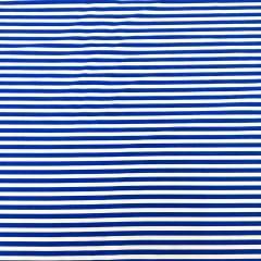 Tecido Tricoline Branco Listras Azul Royal