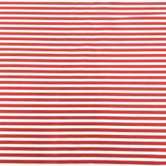 Tecido Tricoline Branco Listras Vermelho