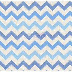 Tecido Tricoline Chevron Nara Azul