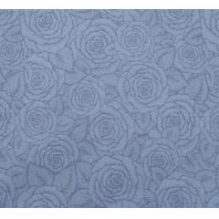 Tecido Tricoline Cinza Rosas