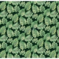Tecido Tricoline Costela De Adão Preto Com  Verde