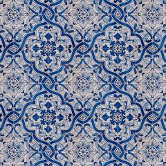 Tecido Tricoline Digital Azulejo Português