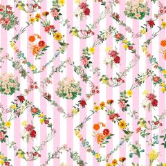 Tecido Tricoline Digital Floral Rosa Listra