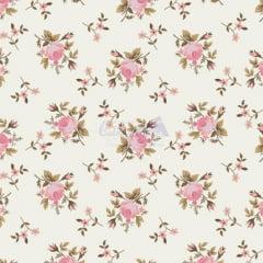Tecido Tricoline Estampa Floral Angel