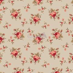 Tecido Tricoline Estampa Floral Angel Bege