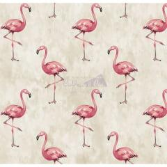 Tecido Tricoline Flamingo Bege