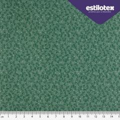 Tecido Tricoline  Floral  Chic  Verde Esmeralda