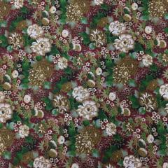 Tecido Tricoline Flores