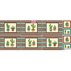 Tecido Tricoline Jogo Americano Cactus