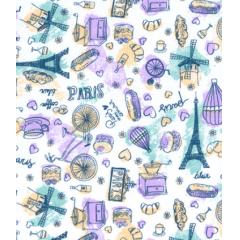 Tecido Tricoline Lilás Paris