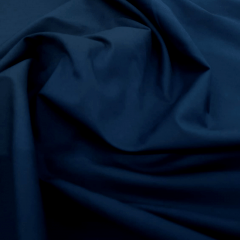 Tecido Tricoline Liso Azul Marinho  Bulgatti