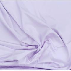 Tecido Tricoline Liso Lilás Claro Acetinado