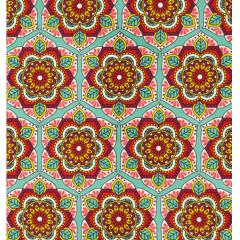 Tecido Tricoline  Mandala Floral