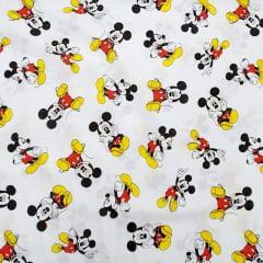 Tecido Tricoline Misto Mickey Mouse