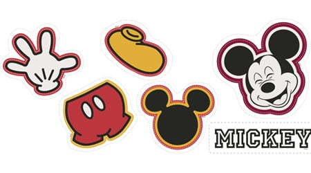 Tecido Tricoline Naninha Disney Mickey