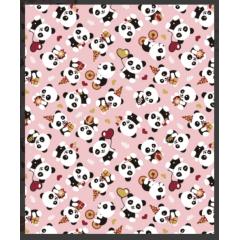 Tecido Tricoline Panda Festa
