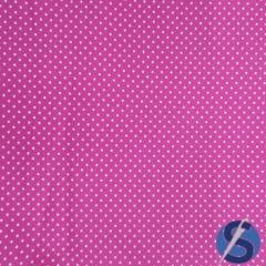 Tecido Tricoline Pink Mini Poá Branco Caldeira