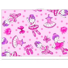 Tecido Tricoline Rosa Bailarina Pink