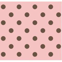 Tecido Tricoline Rosa Bebê Poá Grande Marrom
