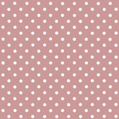 Tecido Tricoline Rosa Chá Escuro Poá Pequeno