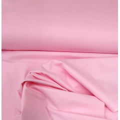 Tecido Tricoline  Paris Liso Rosa Claro