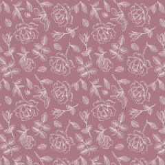 Tecido Tricoline Rosa Elegante Rosê