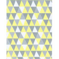 Tecido Tricoline triâgulos Amarelo
