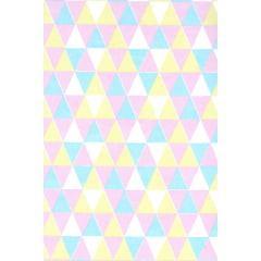 Tecido Tricoline Triângulos Tuti Fruti