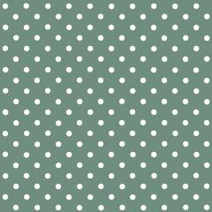 Tecido Tricoline Verde Oliva Poá Pequeno Branco