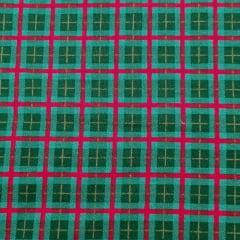 Tecido Tricoline Verde Xadrez Natal