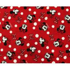 Tecido Tricoline  Vermelho Minnie