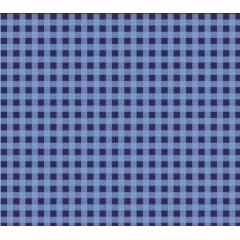Tecido Tricoline Xadrez  Azul