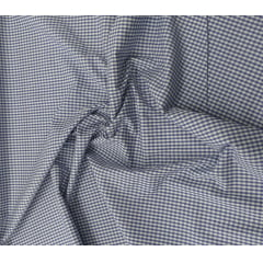 Tecido Tricoline Xadrez Branco Com Azul Ref : 105