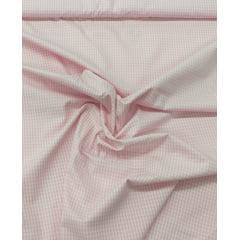 Tecido Tricoline Xadrez Branco Com Rosa Ref : 101