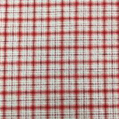 Tecido Tricoline  Mini Xadrez Vermelho